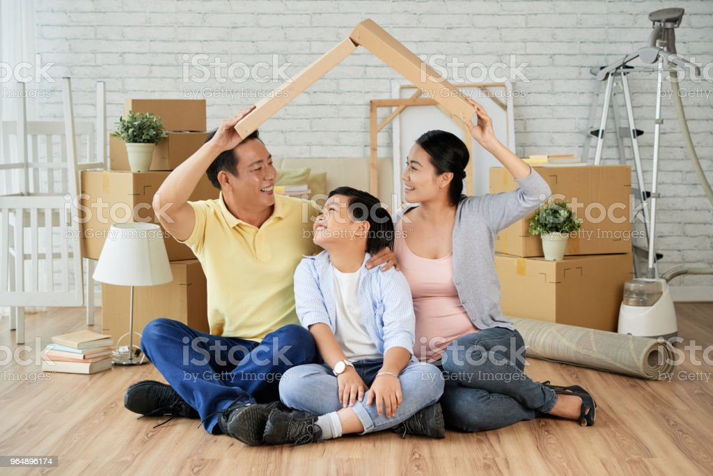 Having Fun at New Apartment - Royalty-free Adult Stock Photo