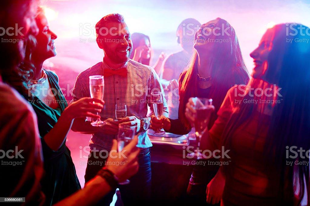 Having fun at party stock photo