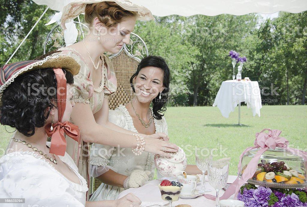 Having fun at tea party royalty-free stock photo