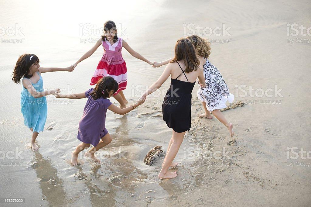 Having fun at the beach royalty-free stock photo