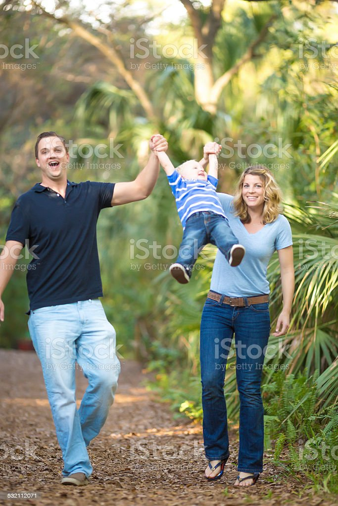 Having Fun at the park stock photo