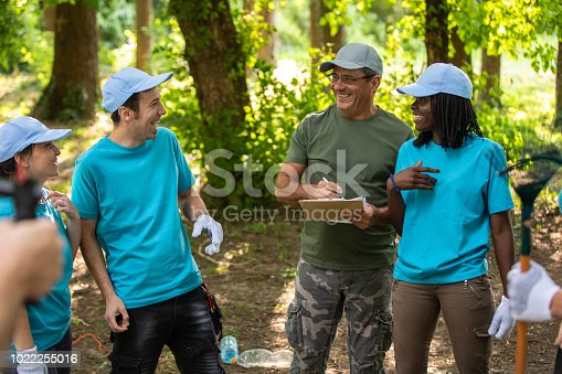 1094812112 istock photo Having fun cleaning the park 1022255016