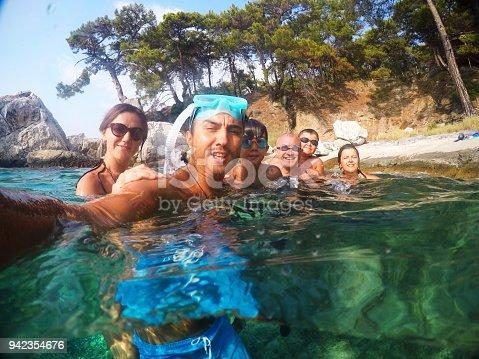 596350174istockphoto Having Fun family Doing A Selfie Underwater 942354676