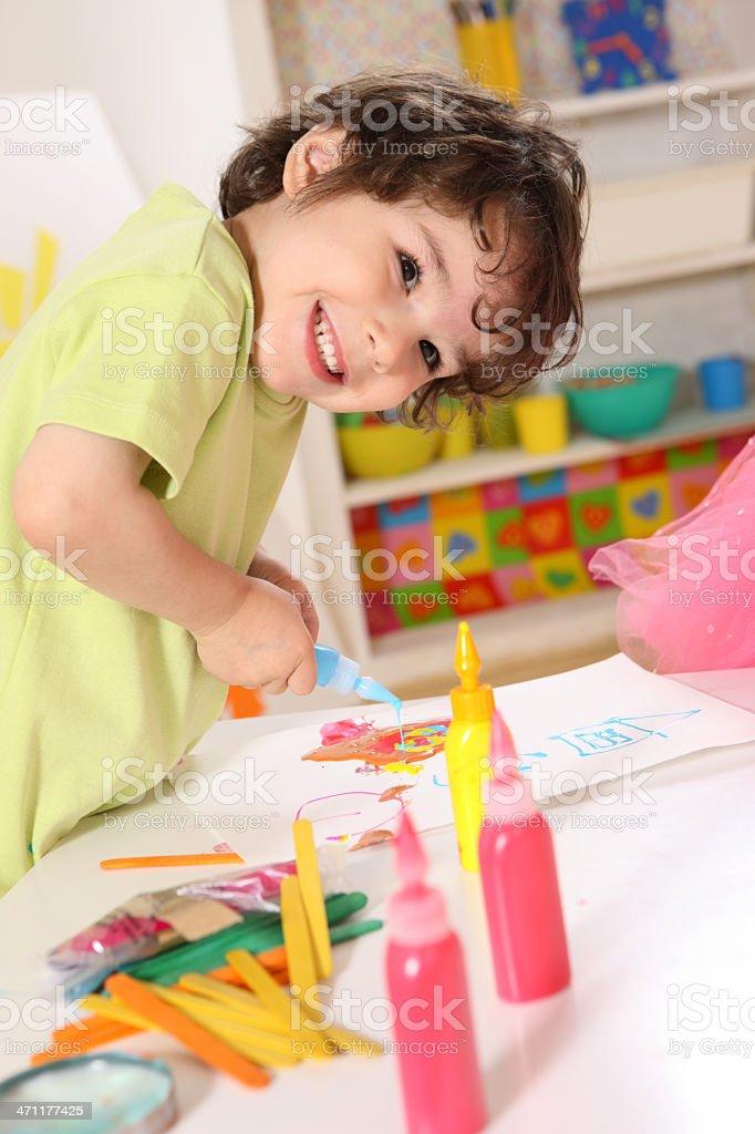 Having fun in a preschool royalty-free stock photo