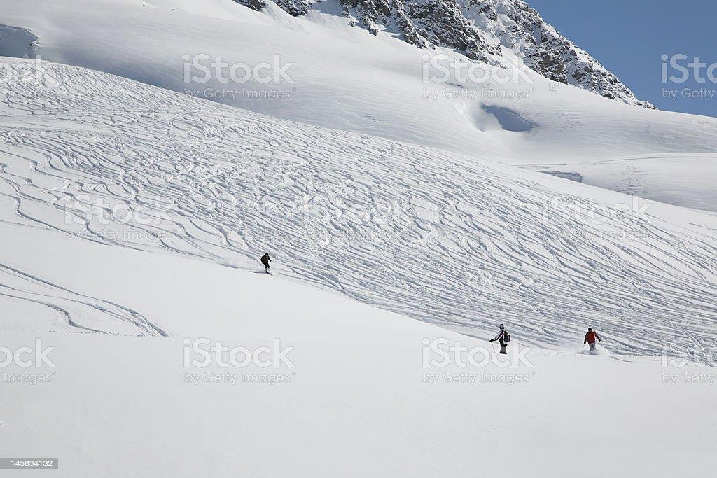 Having Fun in the Austrian Alps stock photo