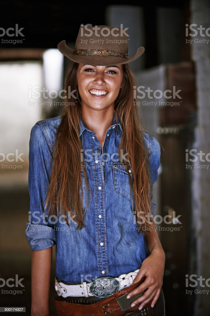 Having fun on the ranch royalty-free stock photo