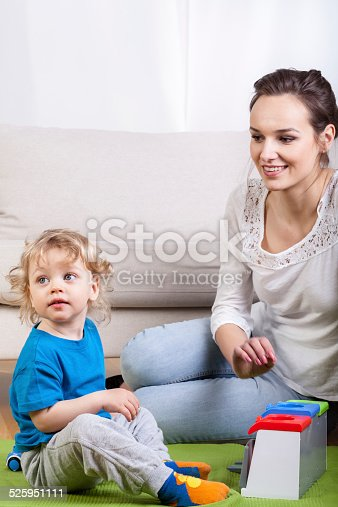 istock Having fun with baby 525951111
