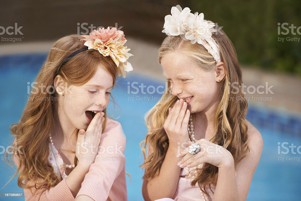 Having fun with her friend royalty-free stock photo
