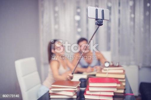 834814926 istock photo Having fun with selfie stick 600173140