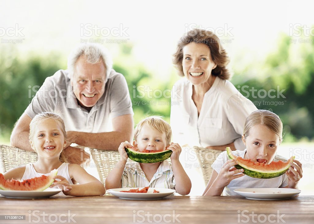 Having fun with the grandkids royalty-free stock photo