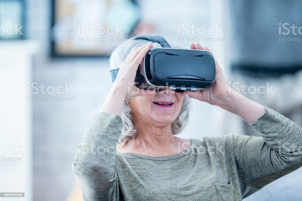 Having Fun With VR royalty-free stock photo