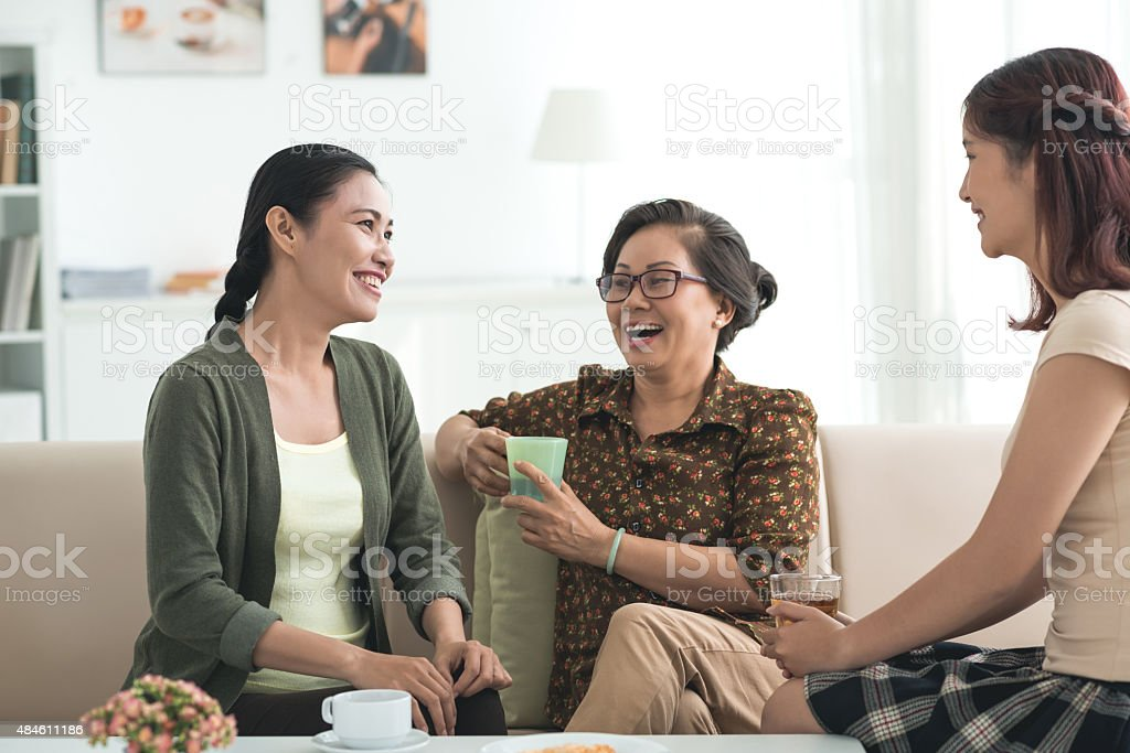 Having good time together stock photo