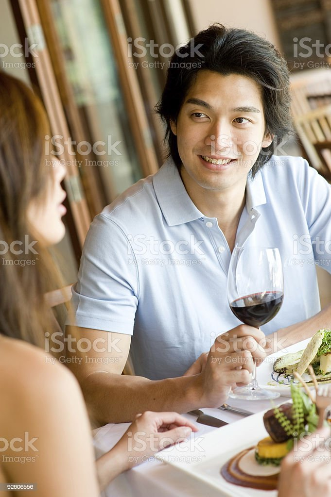 Having Lunch royalty-free stock photo