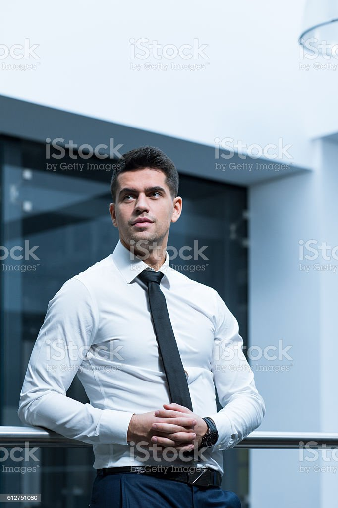 Having professional attitude to clients stock photo