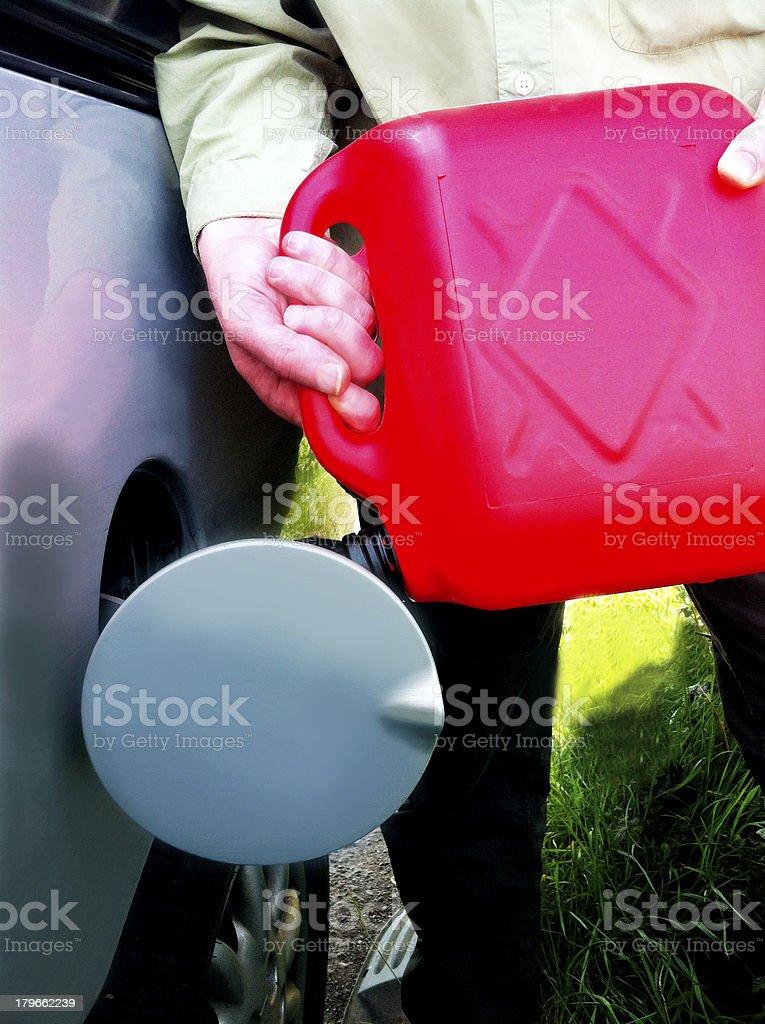 Having run out of petrol royalty-free stock photo