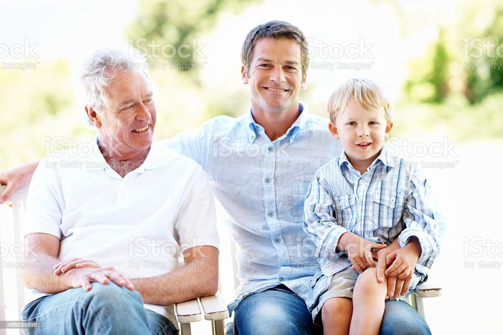 Having some great family time outside stock photo