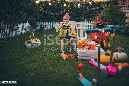 istock Having some Halloween candy 607728852
