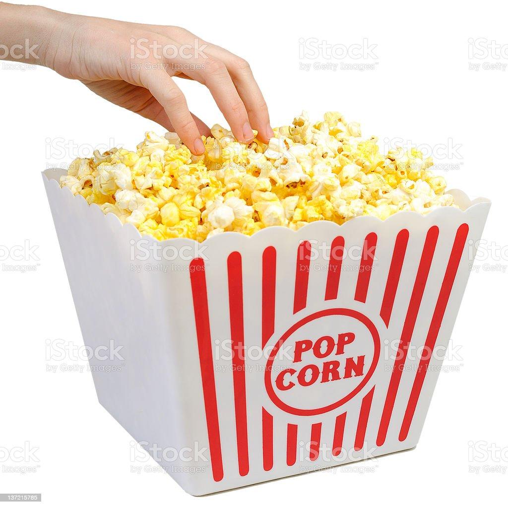 Having Some Popcorn - Large Container royalty-free stock photo