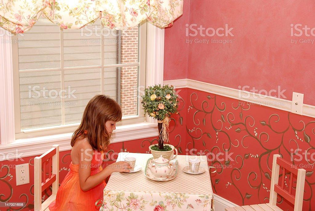 Having tea royalty-free stock photo