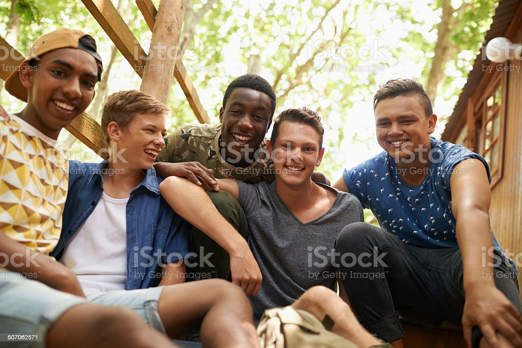 Having the best time with friends stock photo