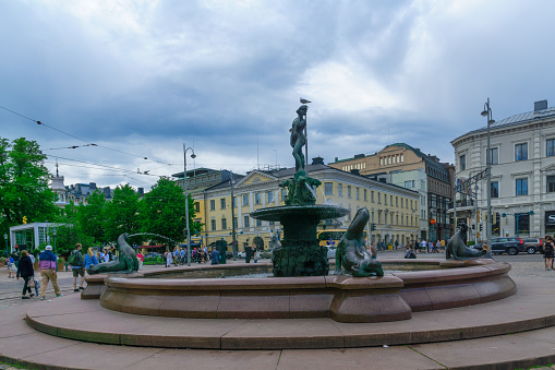 868668668 istock photo Havis Amanda statue and fountain, in Helsinki 816556000