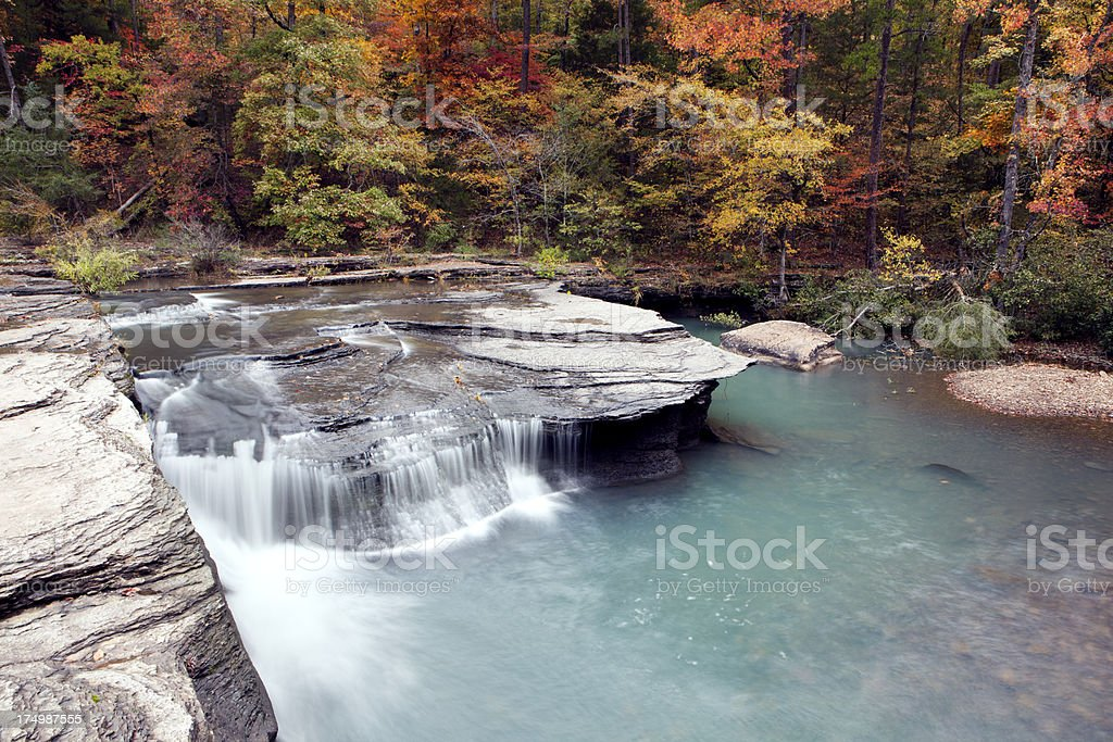 Haw Creek Waterfall stock photo