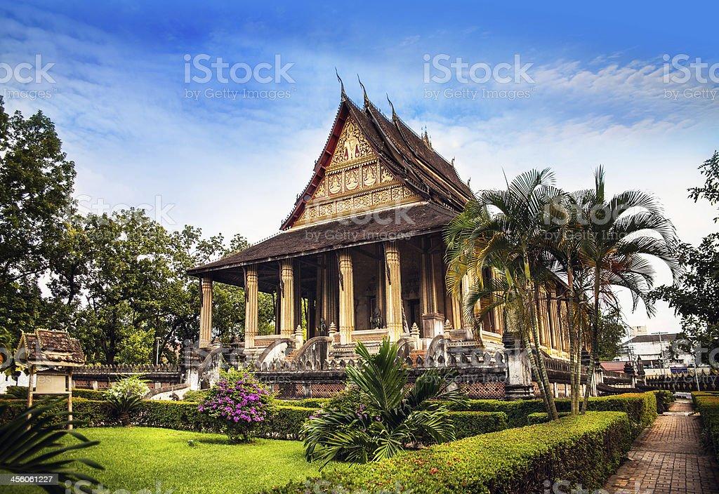 Haw Phra Kaew, No.1 attraction in Vientiane, Laos. stock photo