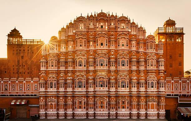 ハワマハル(風の宮殿)ジャイプール(インド) - 記念建造物 ストックフォトと画像