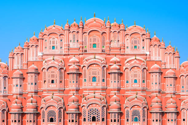 Hawa Mahal or Palace of the Winds in Jaipur, Rajasthan state, India stock photo