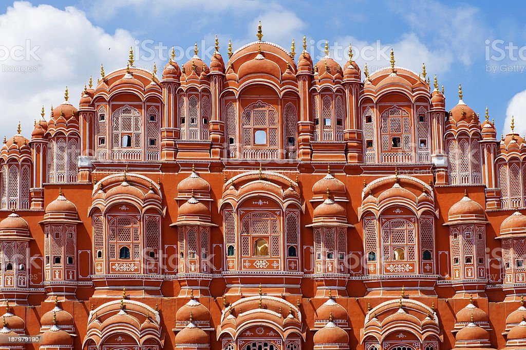 Hawa Mahal palace in Jaipur - Royalty-free Architectural Dome Stock Photo