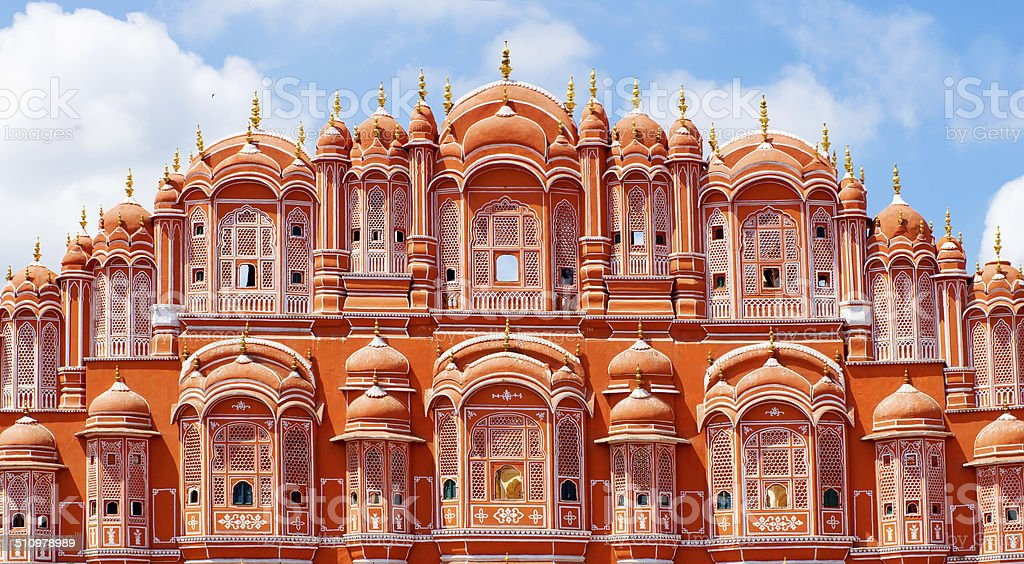 Hawa Mahal palace in Jaipur, Rajasthan stock photo