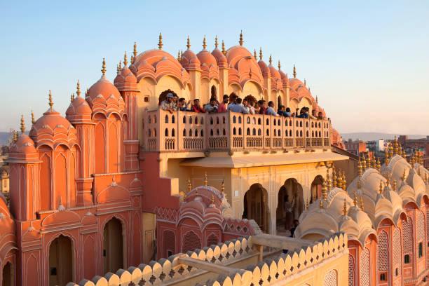 Hawa Mahal, Palace of Winds in Jaipur, Rajasthan state, India stock photo