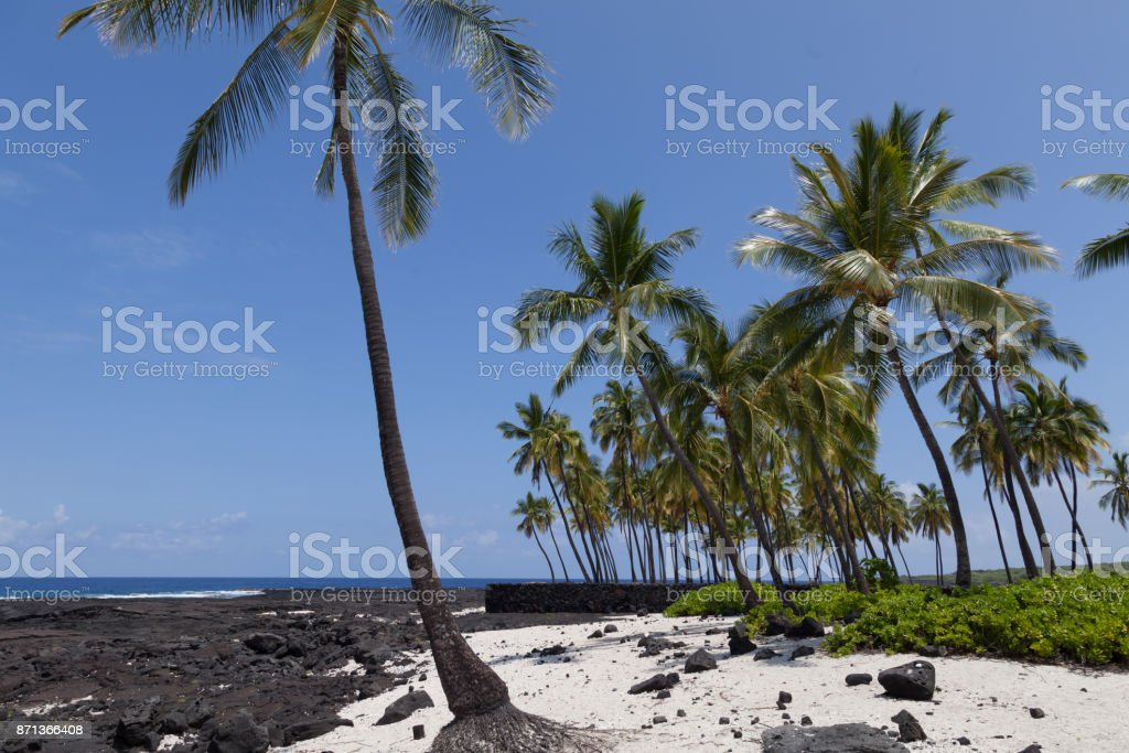 Hawaï, National Historical Park stock photo