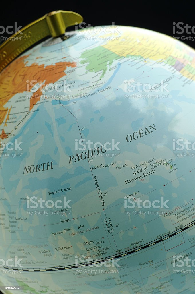 Hawaii and North Pacific Ocean stock photo