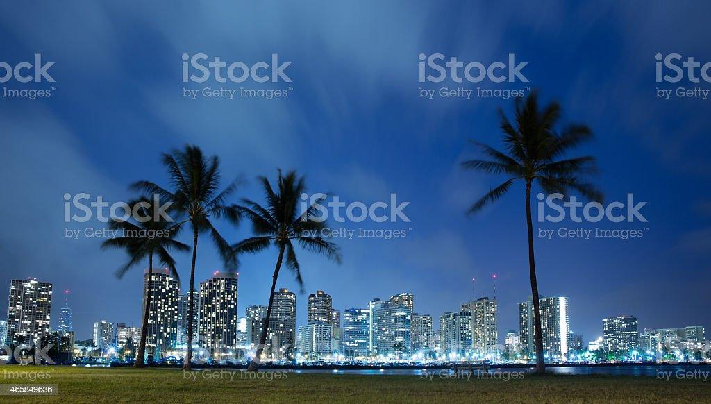Hawaii at night stock photo