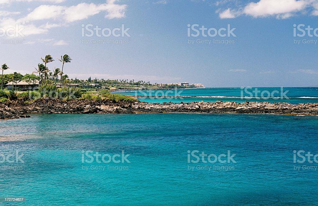 Hawaii Beach hotel scenic stock photo