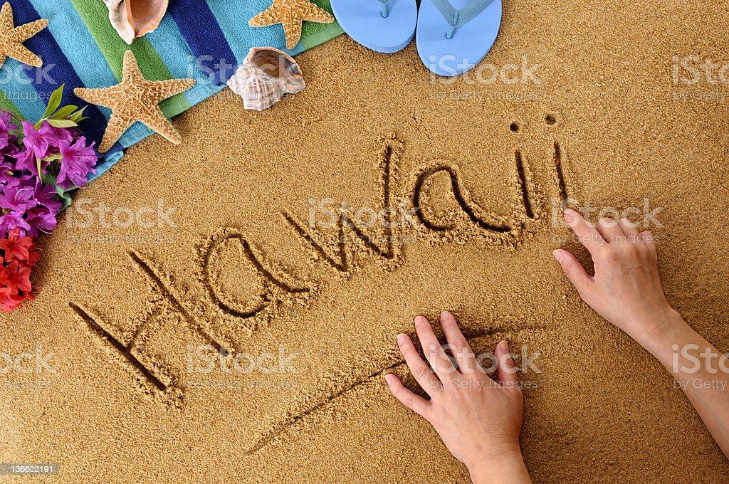 ハワイのビーチの作成 ストックフォト