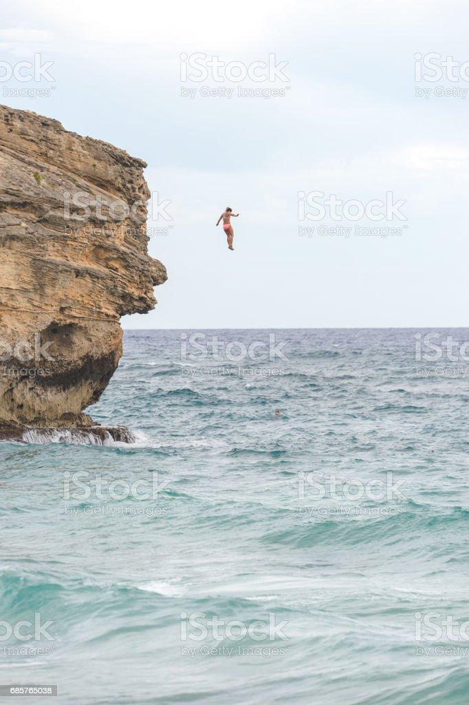 Hawaii Cliff Jumping foto stock royalty-free