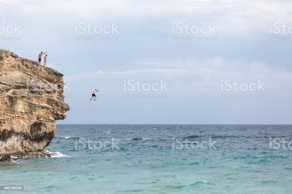 Hawaii Cliff Jumping foto stock royalty-free