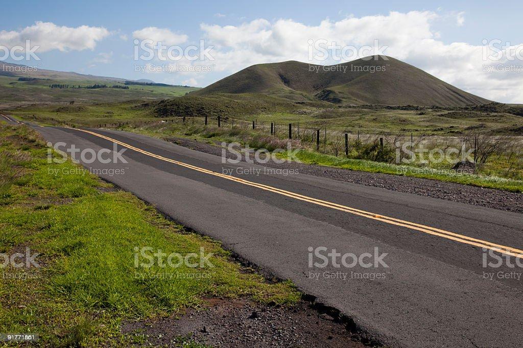 Hawaii Country Road royalty-free stock photo