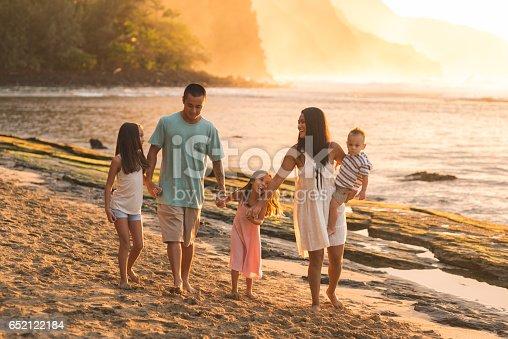 istock Hawaii family vacation on beach 652122184