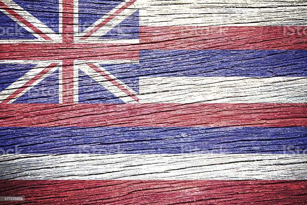 Hawaii Flag royalty-free stock photo