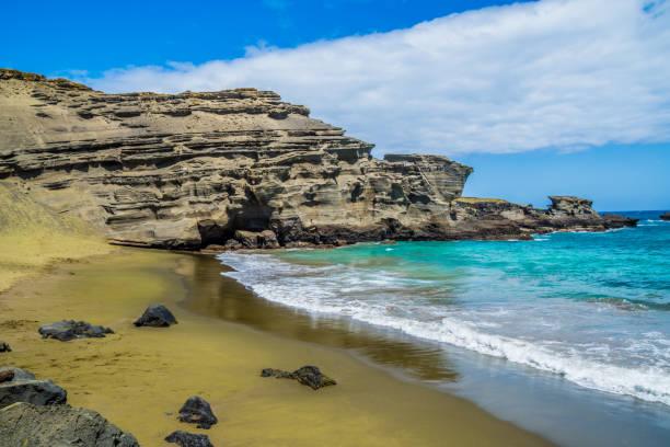 Hawaii Green sand beach (Papakōlea) the must-see beach of Big Island
