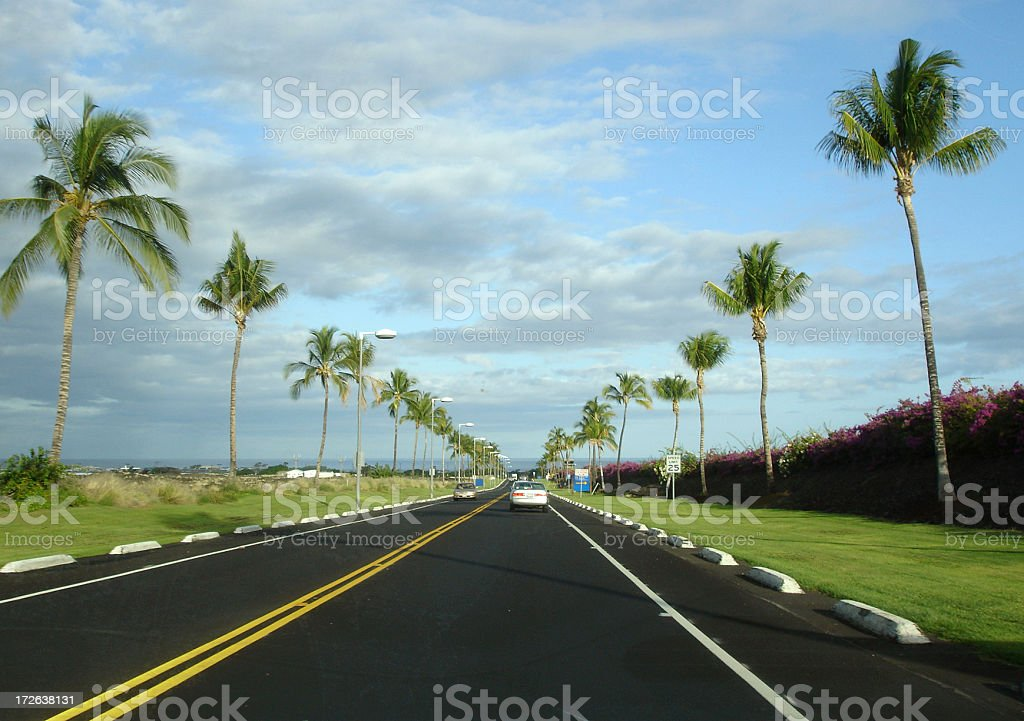 Hawaii highway stock photo