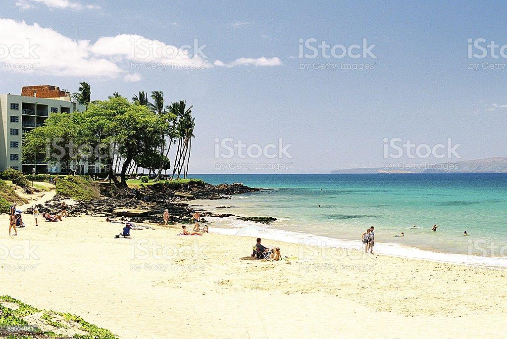 Hawaje hotel i plaży osób zbiór zdjęć royalty-free
