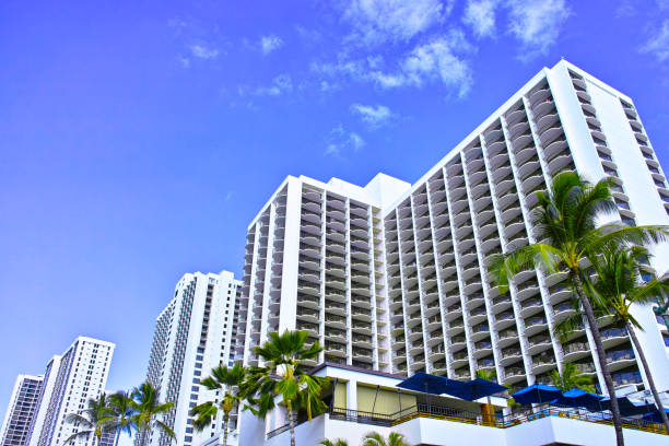Hawaii Hoteles en Waikiki Beach - foto de stock