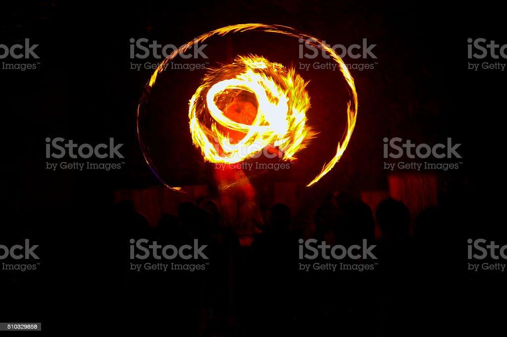 Hawaii Fuego Luau hawaiano - foto de stock