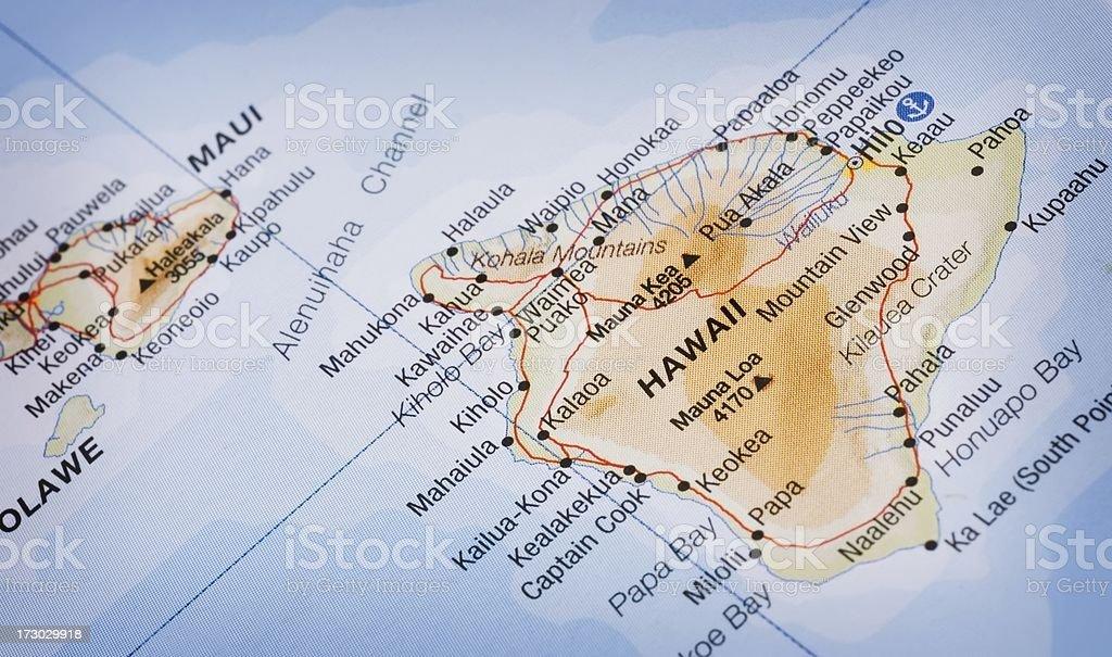 Hawaii map royalty-free stock photo