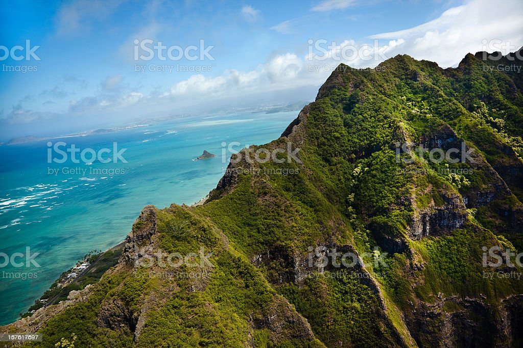 Hawaii Mountain Peak stock photo