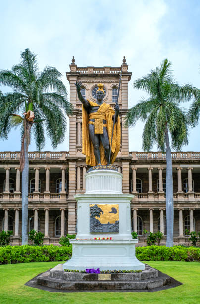 Hawaii, nature, history and architecture stock photo
